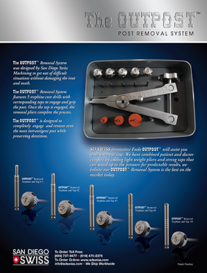 San Diego Swiss OUTPOST Endodontic Post Removal System Brochure